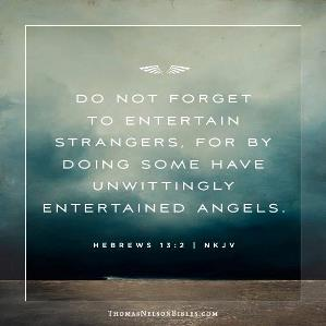 entertain strangers angels