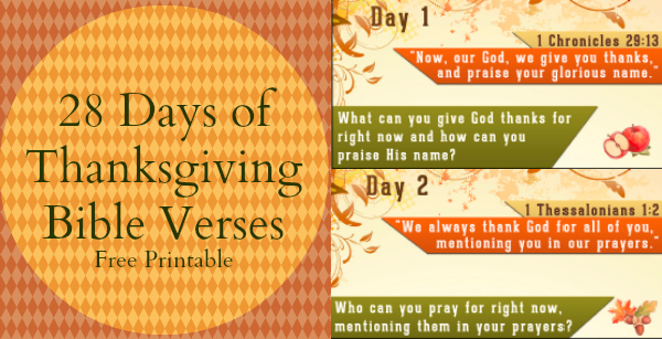 ... Bible Verses - Free Thanksgiving Countdown Printable - FaithGateway